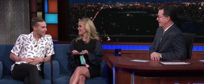 VIDEO: Reese Witherspoon Meets Her Olympic Hero Adam Rippon on THE LATE SHOW WITH STEPHEN COLBERT