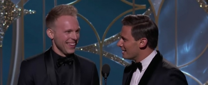 VIDEO: Benj Pasek & Justin Paul Accept GOLDEN GLOBE for Best Original Song