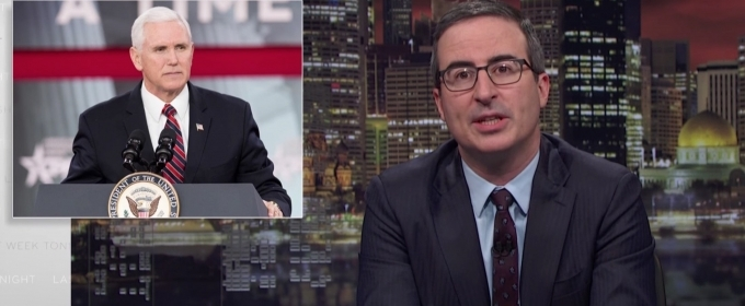 VIDEO: John Oliver Shares Mike Pence Parody Book on LAST WEEK TONIGHT WITH JOHN OLIVER