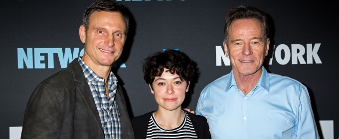 Photo Coverage: Bryan Cranston and the Company of NETWORK Meet the Press!