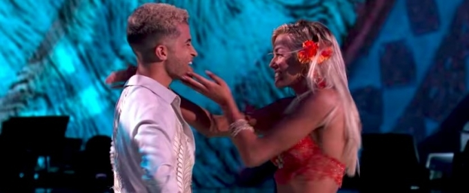 VIDEO: Jordan Fisher Earns Perfect Score for MOANA-Themed Foxtrot on DWTS' 'Disney Night'