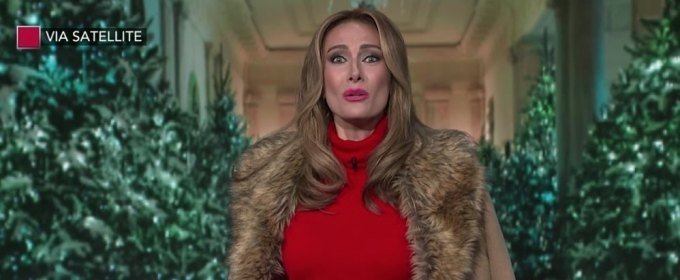 VIDEO: Laura Benanti's 'Melania Trump' is Dreaming of a Dark Christmas on LATE SHOW