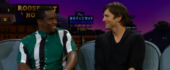 VIDEO: Sean 'Diddy' Combs and Ashton Kutcher Talk Running for Office, Punk'd, and More on The Late Late Show