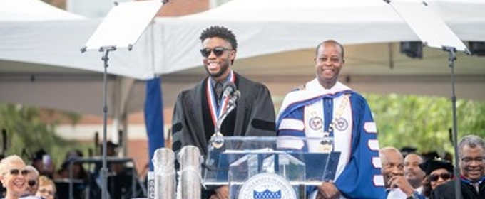Chadwick Boseman Inspires Graduates During Howard University's 2018 Commencement Ceremony