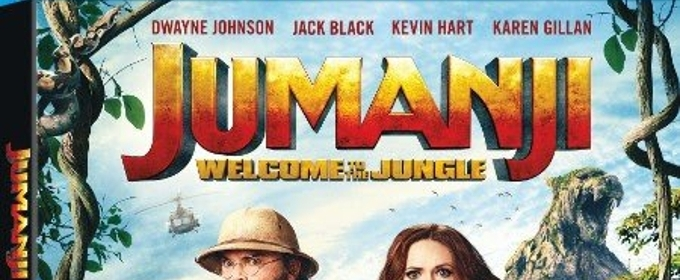 JUMANJI: WELCOME TO THE JUNGLE Available on DVD + Blu-Ray March 20