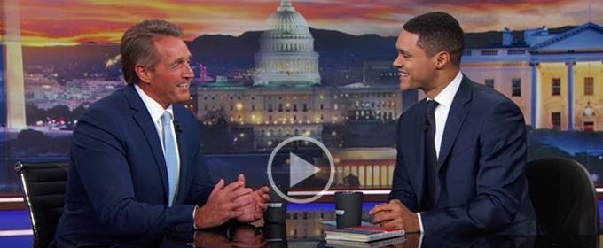 VIDEO: Senator Jeff Flake Talks with Trevor Noah about Trump's Tweets & More