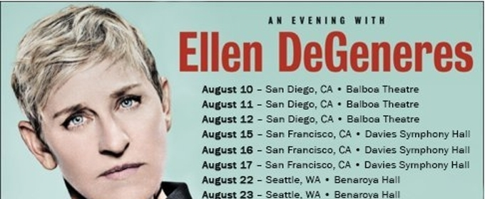 Ellen DeGeneres Announces First Stand-Up Tour Dates In Over 15 Years