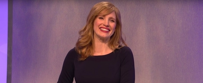 VIDEO: Jessica Chastain Deliberately Breaks Characters in SNL Trump Sketch to Ask 'What Even Matters Anymore?'