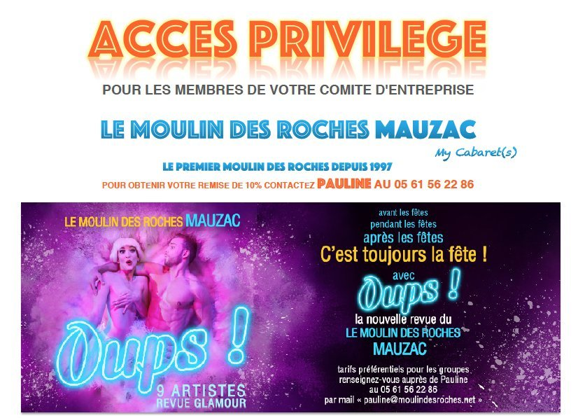 BWW Review: OUPS at The Moulin Des Roches Cabaret