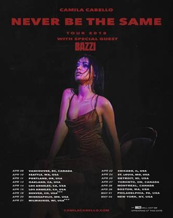 Camila Cabello Tour Dates