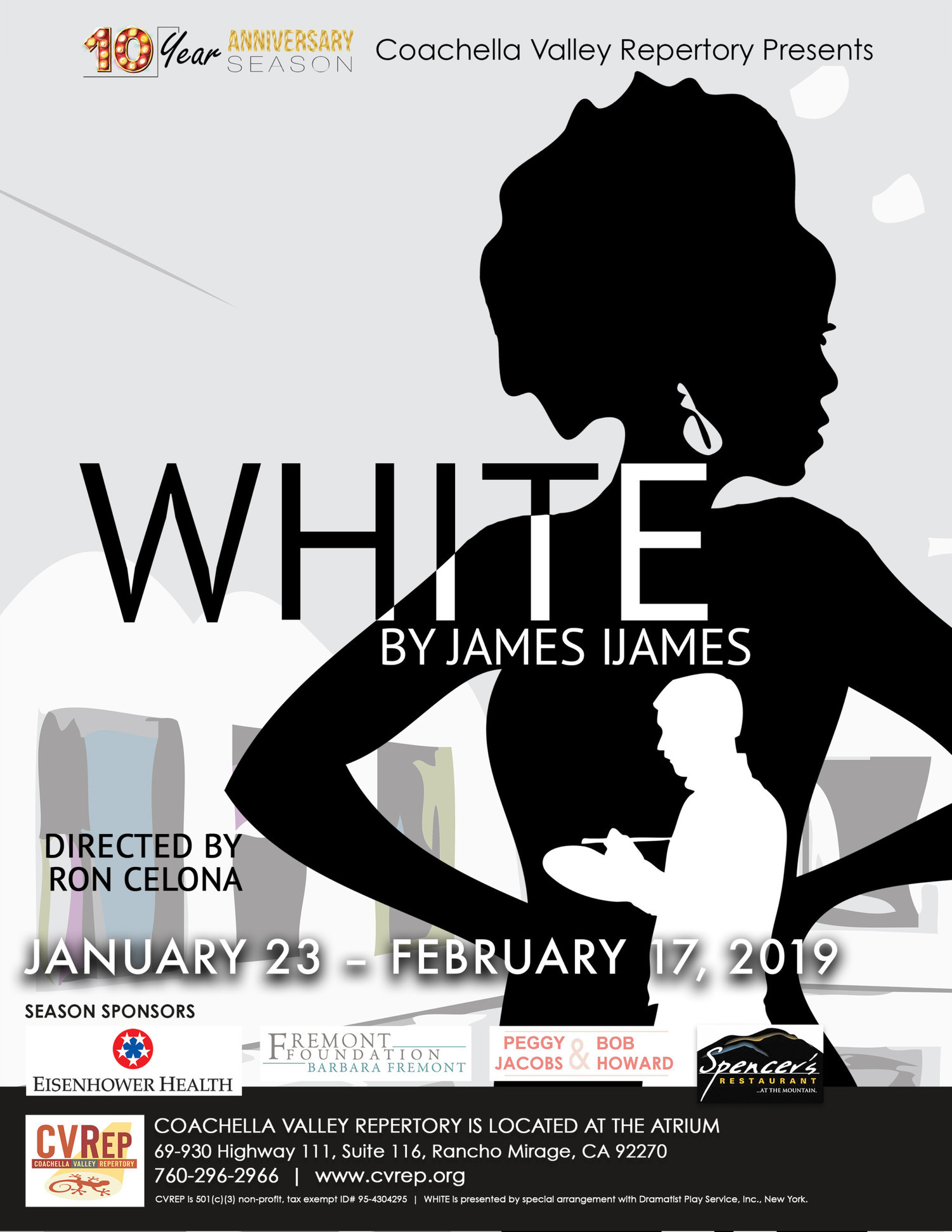 WHITE Comes To The CV Rep Theater