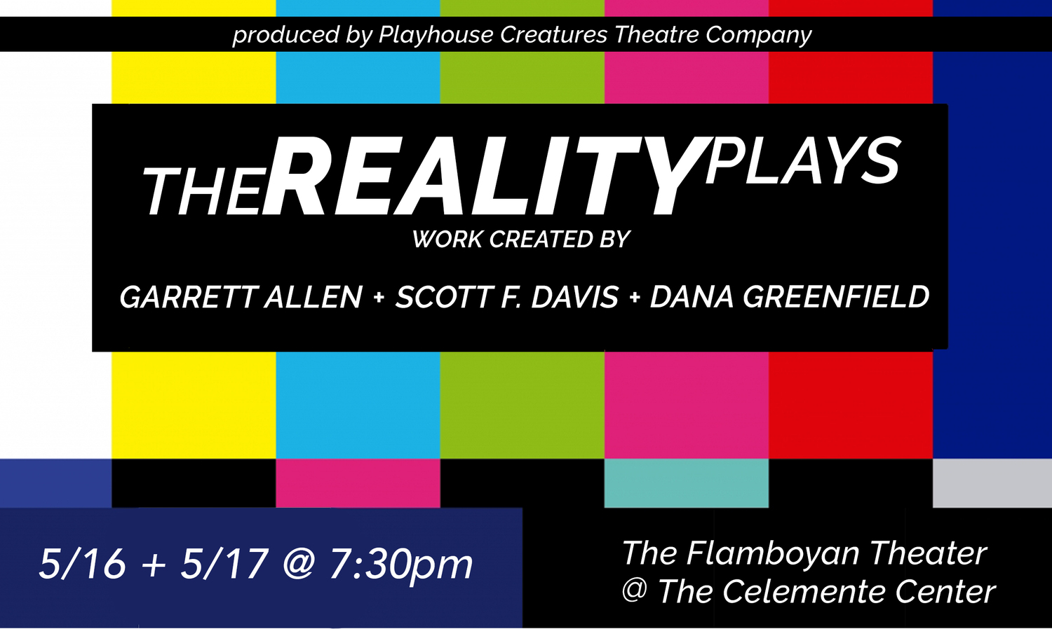 Emerging Directors Deconstruct Reality TV In THE REALITY PLAYS