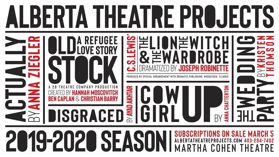 Alberta Theatre Projects Announces Their 2019/2020 Season