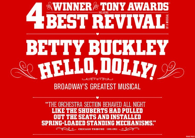 HELLO, DOLLY! Comes to Buell Theatre Today!
