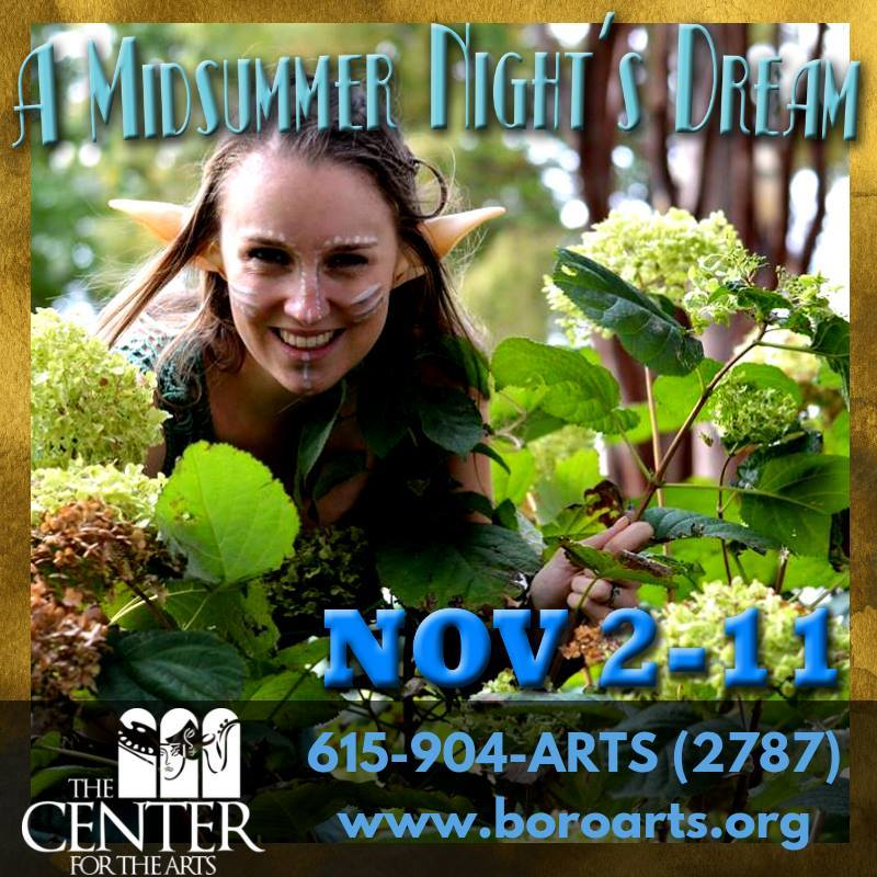 BWW Review: A MIDSUMMER NIGHT'S DREAM at Murfreesboro Center For The Arts