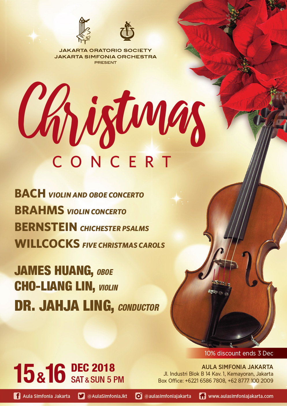 A CHRISTMAS CONCERT Comes To Jakarta Symphony 12/15 and 12/16