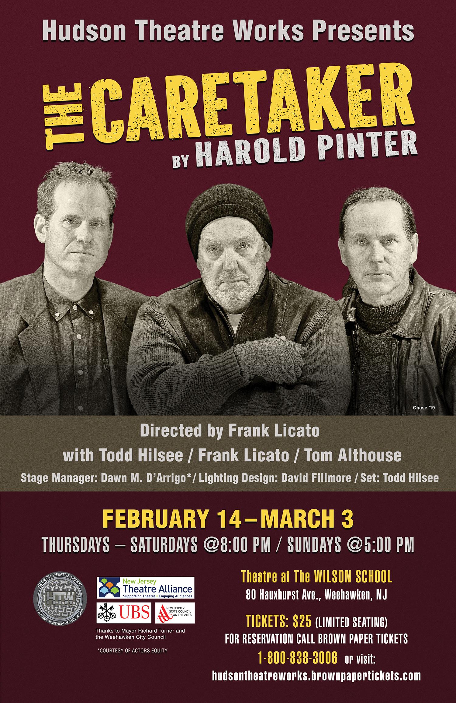 Hudson Theatre Works Present Harold Pinter's THE CARETAKER