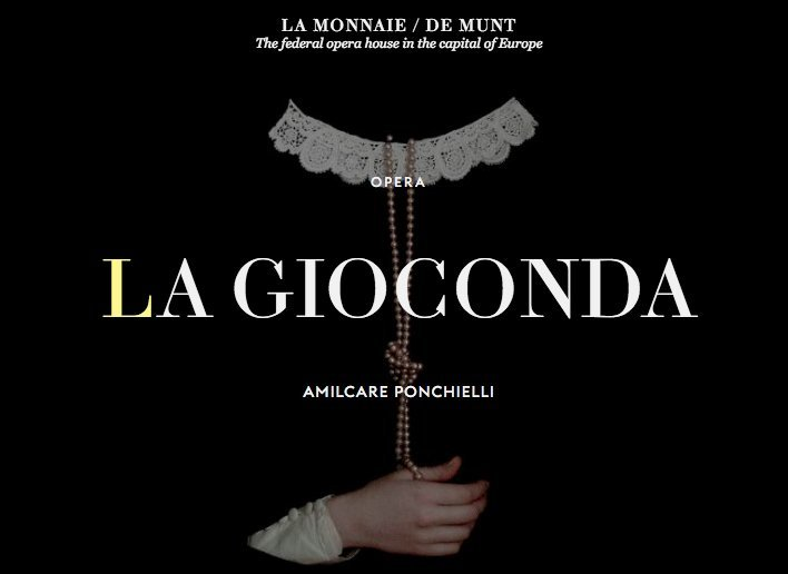LA GIOCONDA Playing At La Monnaie De Munt 1/29 - 2/12