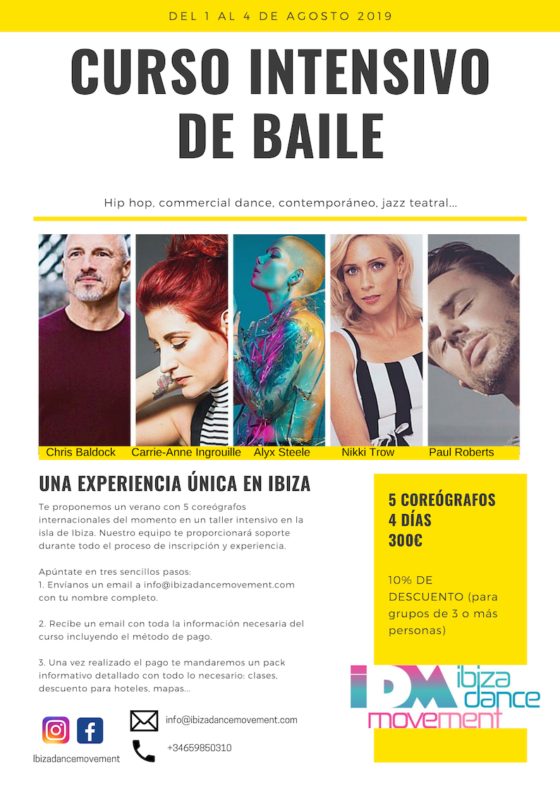Ibiza Dance Movement ofrece un curso intensivo de danza