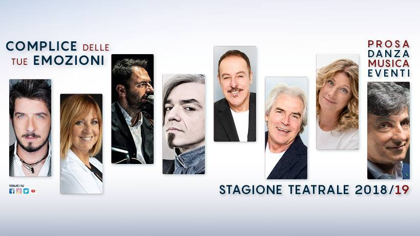 Il Teatro Celebrazioni presenta i titoli della stagione 2018/2019