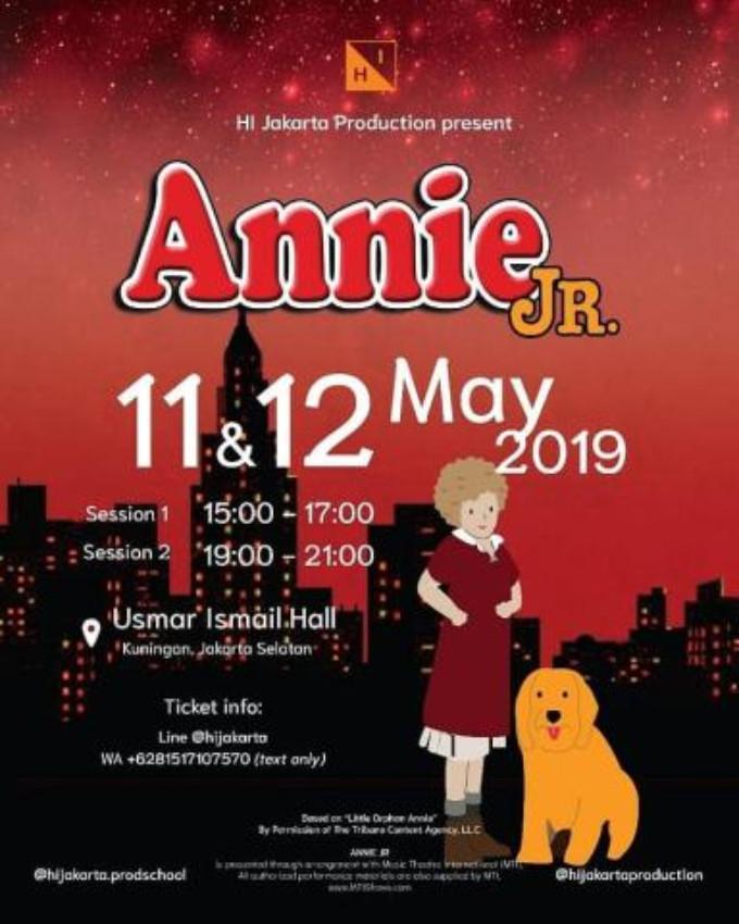 HI JAKARTA's ANNIE JR  Will Bring NYC to Jakarta on May 11th-12th