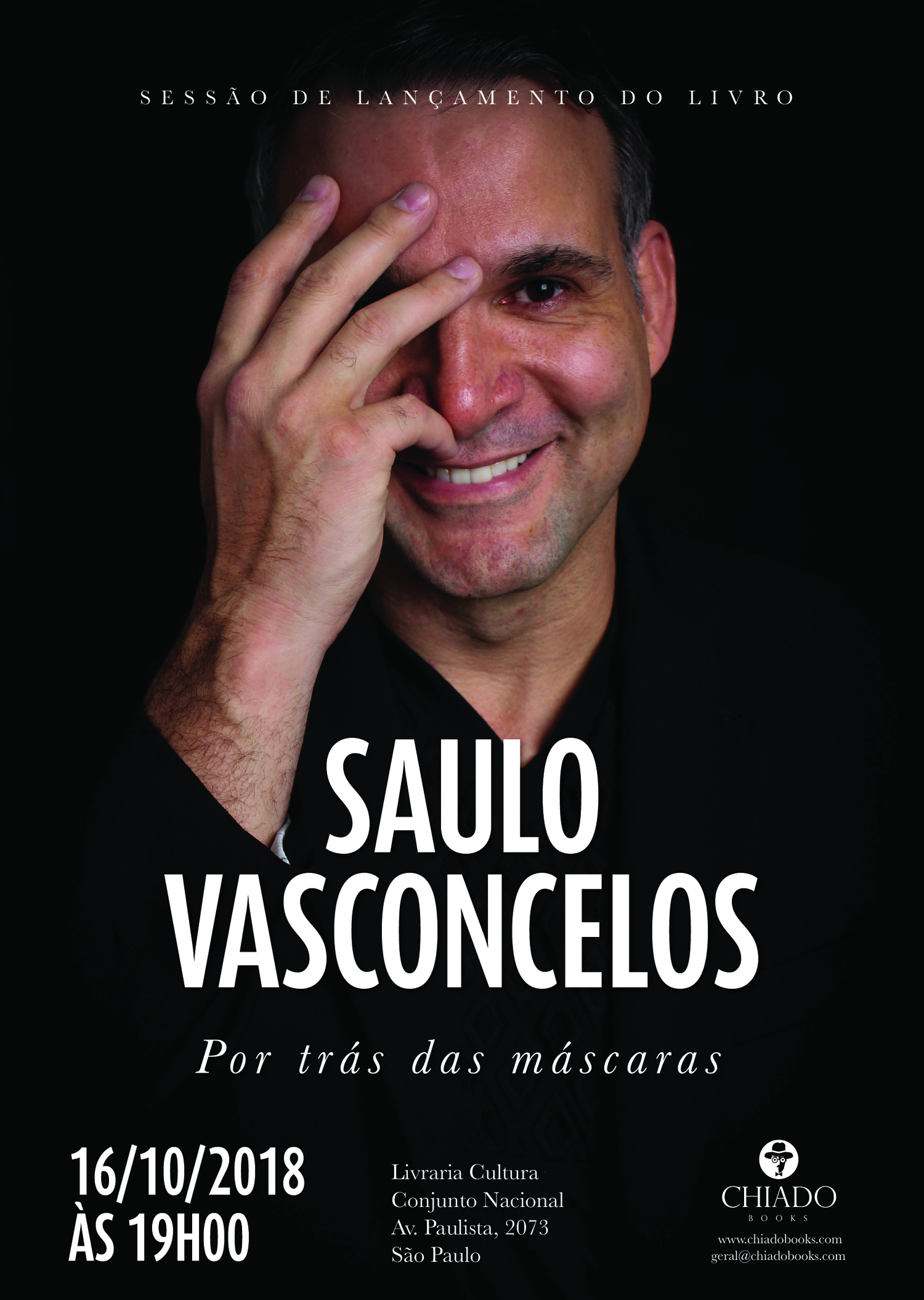 BWW Interview: One of the Greatest Names of Brazilian Musical Theater Saulo Vasconcelos Launches the Auto-Biography POR TRAS DAS MASCARAS (Behind The Masks)