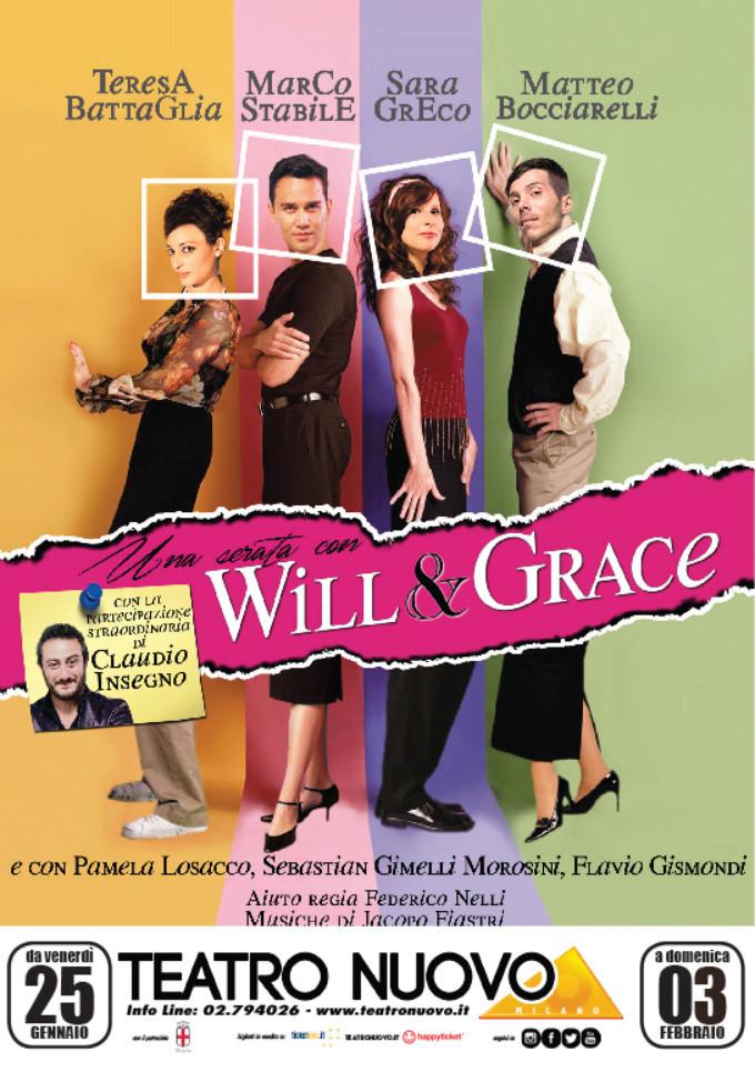Una serata con WILL E GRACE: da stasera al Teatro Nuovo di Milano