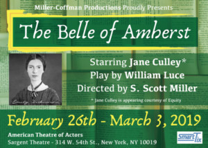 Stephen S. Miller Presents THE BELLE OF AMHERST At American Theatre Of Actors