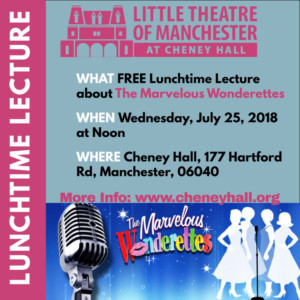 LTM's Lunchtime Lecture Series Continues With THE MARVELOUS WONDERETTES