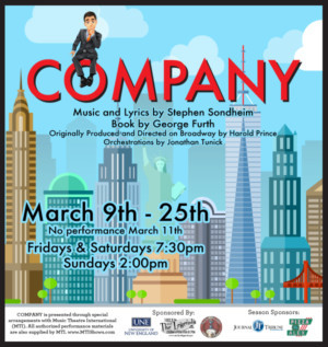 City Theater Presents COMPANY, The Award Winning Musical By Stephen Sondheim