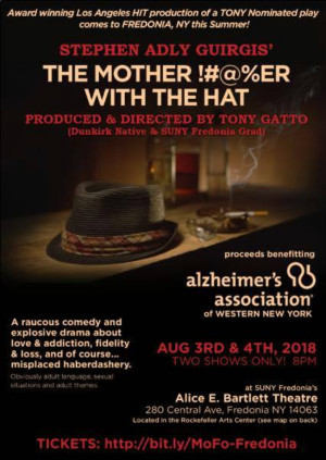 Stephen Adly Gurigis' THE MOTHERF**KER WITH THE HAT to Play SUNY Fredonia