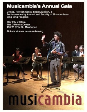 Musicambia's Annual Gala to Be Held May 8th at Dimmena Center for Classical Music