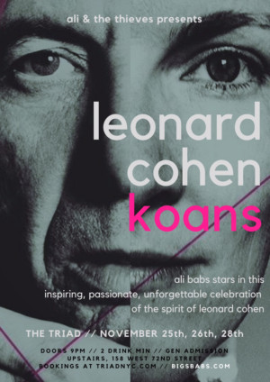 LEONARD COHEN KOANS Will Play Off-Broadway This November