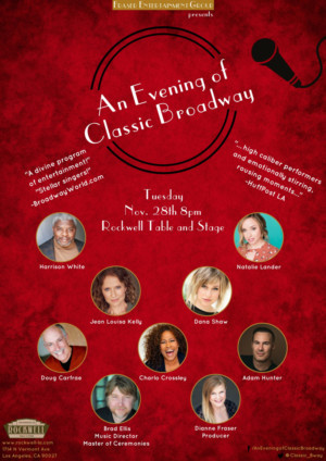 Cast Announced for An Evening of Classic Broadway at Rockwell Table and Stage