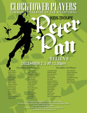 Clocktower Players Kids Troupe Presents PETER PAN