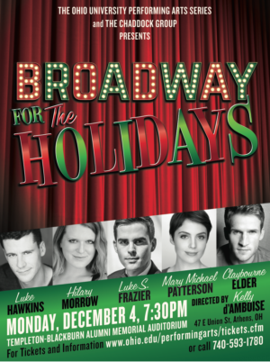 Luke Frazier to Bring BROADWAY FOR THE HOLIDAYS to Ohio University