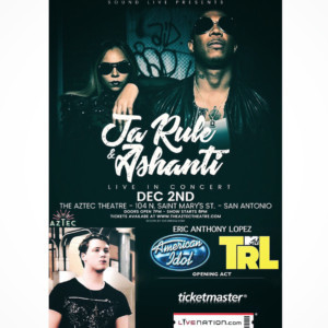 Eric Anthony Lopez to Open for Ashanti & Ja Rule in TX, PA