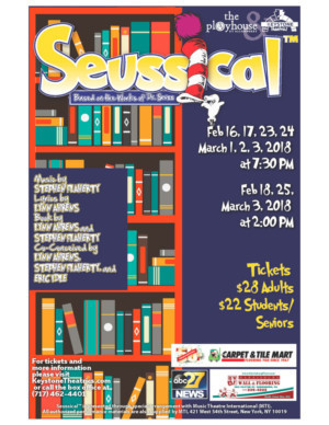 SEUSSICAL Jumps From Page To Stage At The Playhouse At Allenberry!