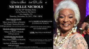 Nichelle Nichols' Announces 85th Birthday Party In L.A.