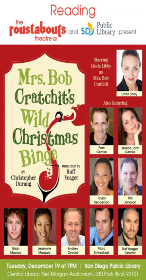 Fabulous Cast Announced for MRS. BOB CRATCHIT'S WILD CHRISTMAS BINGE Reading, 12/19
