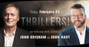 Authors John Grisham And John Hart Come to The Duke Energy Center