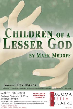 Tacoma Little Theatre Presents CHILDREN OF A LESSER GOD