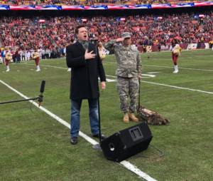 Tenor Anthony Kearns Sang the National Anthem at Major NFL Game