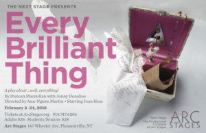 Arc Stages Presents EVERY BRILLIANT THING