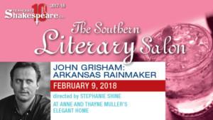TN Shakespeare Co. Presents Salon: JOHN GRISHAM, ARKANSAS RAINMAKER