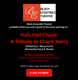 Black Ensemble Theatre presents HAIL, HAIL CHUCK: A Tribute to Chuck Berry