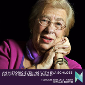 Oregon Jewish Museum Hosts An Historic Evening With Anne Frank's Stepsister, Eva Schloss