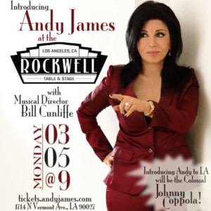 Jazz Singer Andy James Makes L.A. Concert Debut with The Legendary Bill Cunliffe and Johnny Coppola