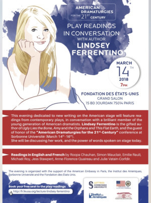 Playwright Lindsey Ferrentino to be Guest Of Honor At Paris' International Theatre Conference 3/14