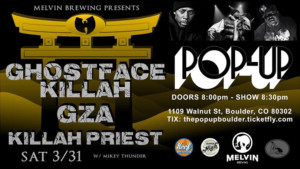 Melvin Brewing Presents Ghostface Killah, GZA, Killah Priest andMore
